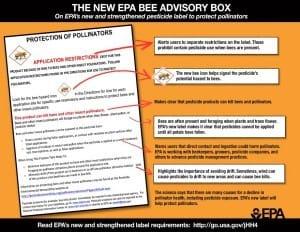 Bee advisory box from EPA