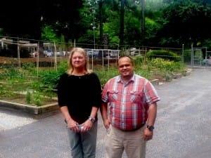 Christine Williams and Rolando Orellana of the North Fulton Annex Community Garden.