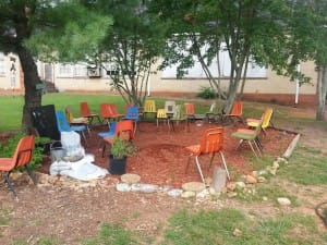 Healthy Life Garden Shaded Seating Area