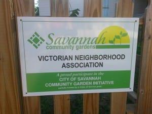 Victorian Garden Sign