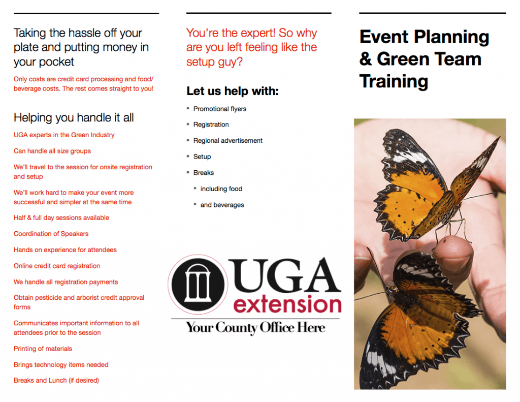 Event Coordination, Training, Workshops, and the Green Team