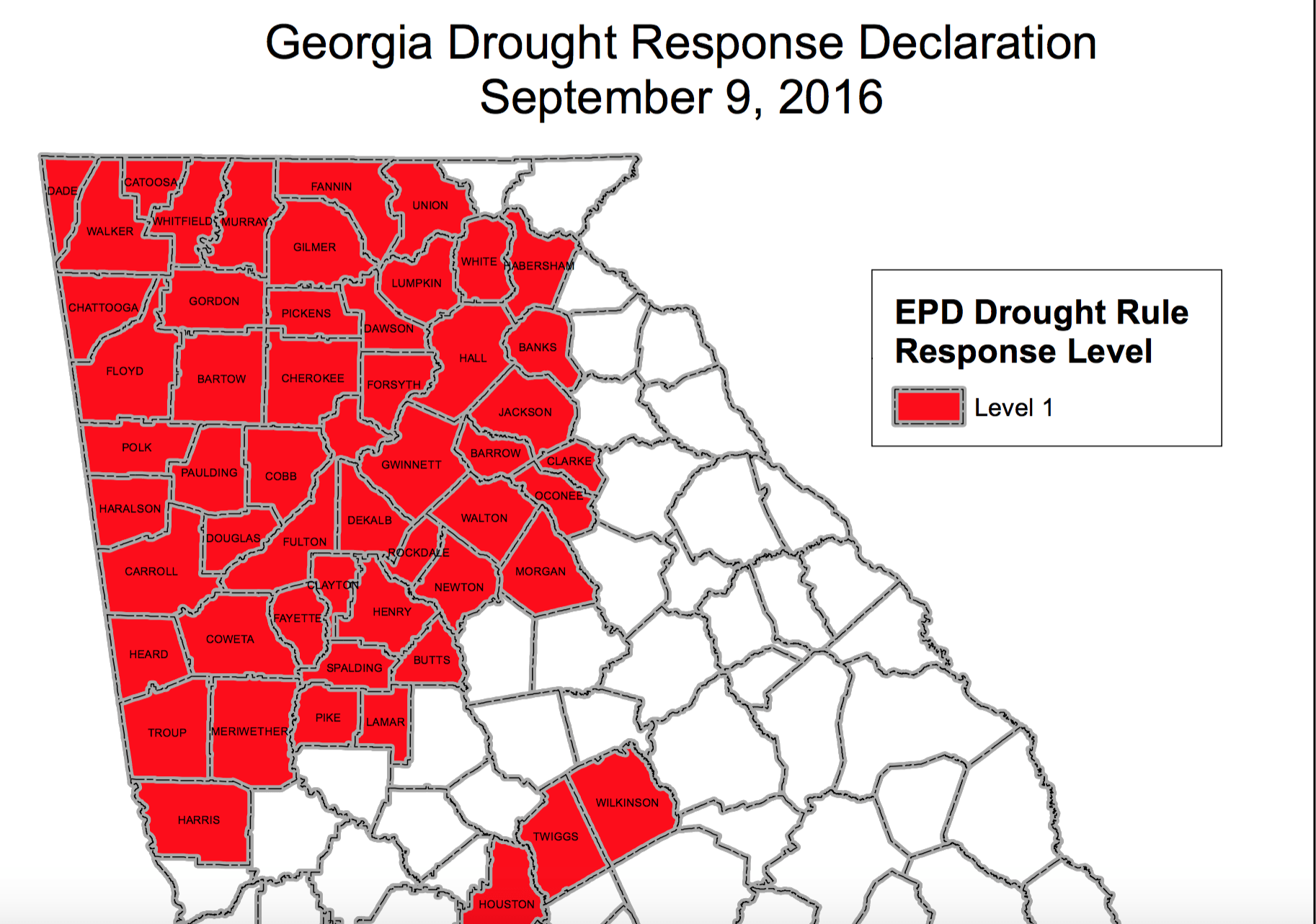 Level 1 Drought Declared in Georgia